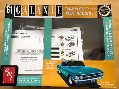 Rare Amt '61 Galaxie 1/25 Complete Slot Racing Kit 2012 Re-release Autoworld  • 75£