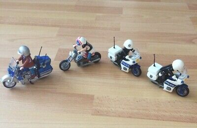 Playmobil Assortment Of Motorbikes And Figures - Police / Chopper / Tourer • 17.50£