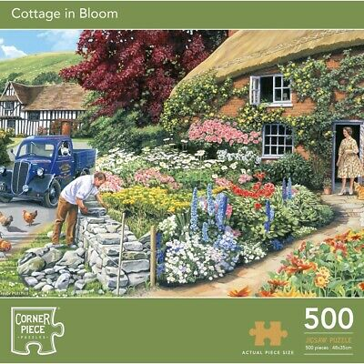 500 Piece Cottage In Bloom Jigsaw Puzzle, Toys & Games, Brand New • 7£