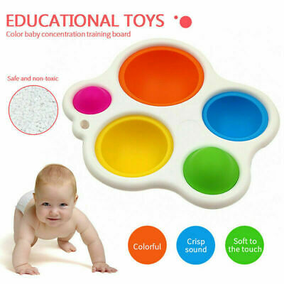 Baby Simple Dimple Sensory Toys, Silicone Flipping Board Multicoloured UK STOCK • 5.26£