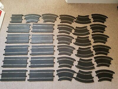 JOBLOT 31x USED SCALEXTRIC SPORT TRACK FULL & HALF STRAIGHTS & STANDARD CURVES • 19.99£
