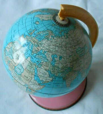 Vintage Rotating World Globe Earth For Home Office Desktop With Metal Stand • 8.99£