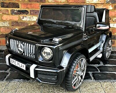 Kids Licensed Mercedes Benz AMG G63 G Wagon 12V  Ride On Car Jeep Black • 31£