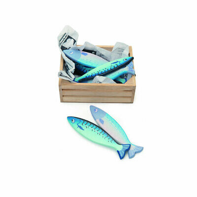 Le Toy Van TV184 Honeybee   Wooden Crates With 6 Fishing   For Shop New! # • 17.92£