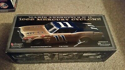 Autographed University Of Racing 1968 NASCAR Mario Andretti #11 Mercury 1/24 • 69.99£
