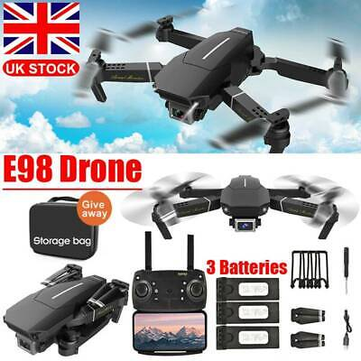 4K HD Drone X Pro WIFI FPV Camera 3 Batteries Foldable Selfie RC Quadcopter Gift • 34.99£