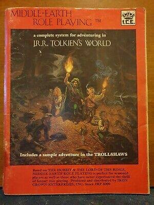 J R R Tolkien, Middle Earth Role Playing Book, Vintage, D&d  • 10£