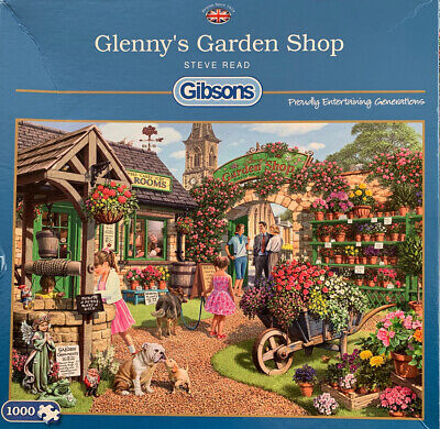 Gibsons Glenny's Garden Shop 1000 Piece Jigsaw Puzzles Pre-owned But Complete. • 2£