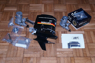AMPS Maxi Outboard  Agnew Model Propulsion Systems  For RC Nitro Boat Vintage! • 3,345£